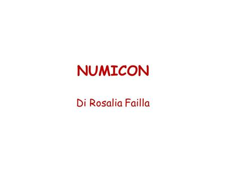 NUMICON Di Rosalia Failla.