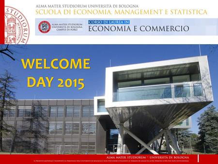 WELCOME DAY 2015. Efficienza del corso di studi.