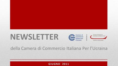 NEWSLETTER BUSINESS IN UCRAINA della Camera di Commercio Italiana Per l'Ucraina.