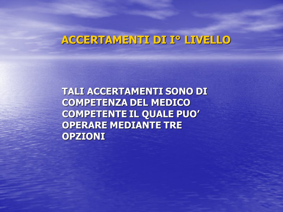 1° opzione Raccolta del campione ed esecuzione del test da parte del Medico Competente.