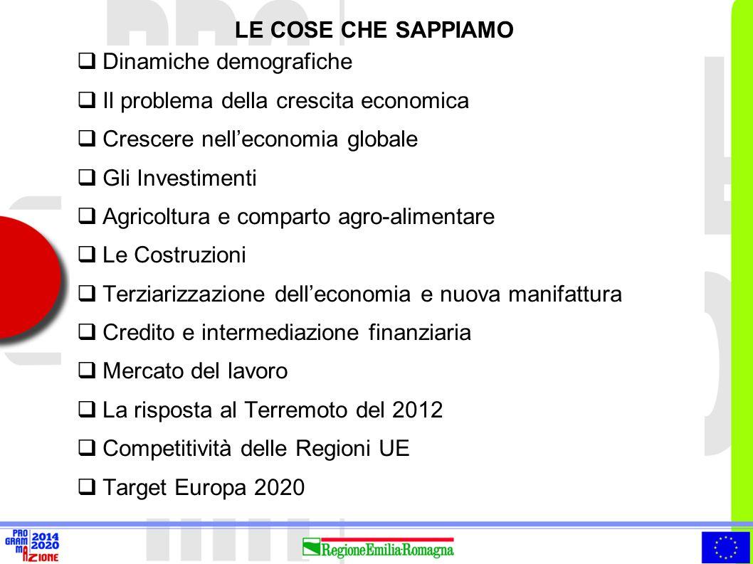7  Popolazione, una grande provincia in più La popolazione dell'Emilia-Romagna è cresciuta nell'arco dell'ultimo decennio di oltre 400 mila persone, pari al 10% del numero complessivo dei suoi abitanti all'inizio del 2002  Crescita trainata dall'immigrazione Negli ultimi 5 anni la componente nazionale è cresciuta dello 0,2% a fronte di una crescita della componente straniera del 66% (oltre 200 mila persone in termini assoluti)  Flussi migratori italiani verso l'estero tra il 2003 e il 2011 oltre 22mila emiliano romagnoli sono emigrati all'estero e oltre 250mila verso altre regioni italiane LE DINAMICHE DEMOGRAFICHE (1/2) Elaborazione ERVET su dati Regione Emilia-Romagna, MMWD e ISTAT