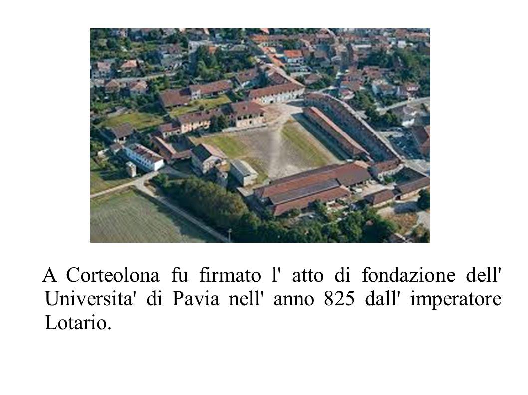 Santa Cristina A due chilometri da Corteolona si trova il borgo di Santa Cristina, sede di un'importante abbazia benedettina, a cui i re longobardi donarono tutto il territorio circostante fino al fiume Lambro.