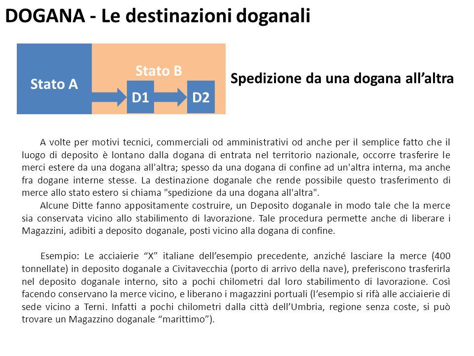DOGANA - Le destinazioni doganali Correntemente si intende per cabotaggio la navigazione marittima delle navi mercantili fra i porti nazionali.