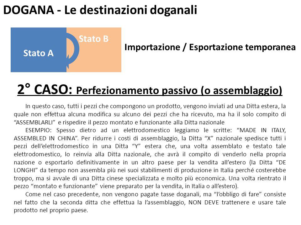 DOGANA - Le destinazioni doganali 3° CASO: Riparazione In questo caso, viene inviato un prodotto da riparare, precedentemente importato definitivamente, alla Ditta produttrice che magari è l'unica in grado di effettuare la riparazione.