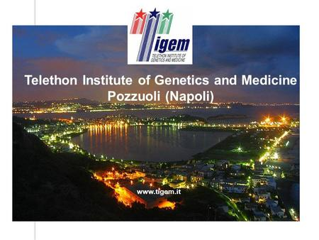 Www.tigem.it Telethon Institute of Genetics and Medicine Pozzuoli (Napoli)