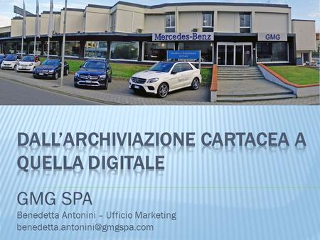GMG SPA Benedetta Antonini – Ufficio Marketing