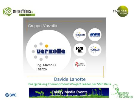 Energy Saving Thermoproducts Project Leader per SMC Italia