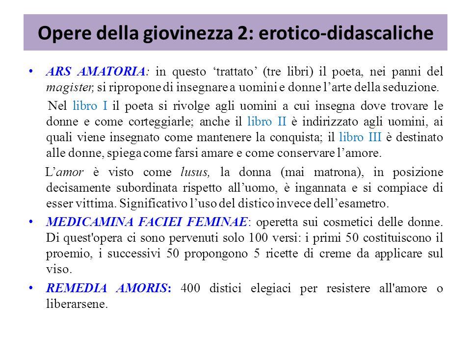 Si tratta di 21 lettere in metro elegiaco, di contenuto mitologico e di argomento amoroso che Ovidio immagina scritte da eroine famose ai loro amanti.