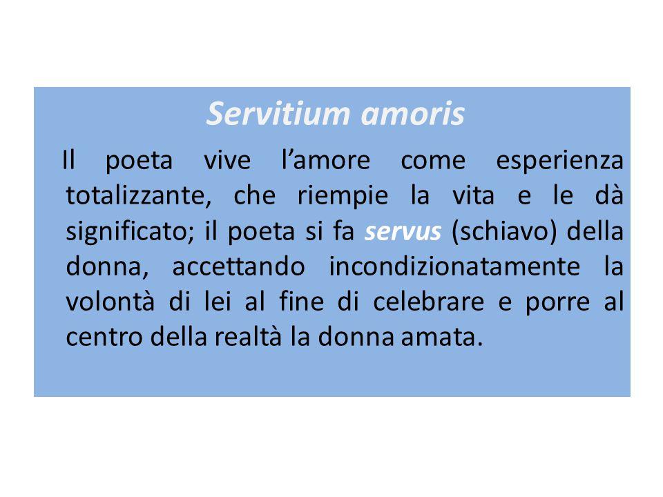 Domina La donna è la signora del poeta: spesso lo ama di un amore tirannico ed è infedele.