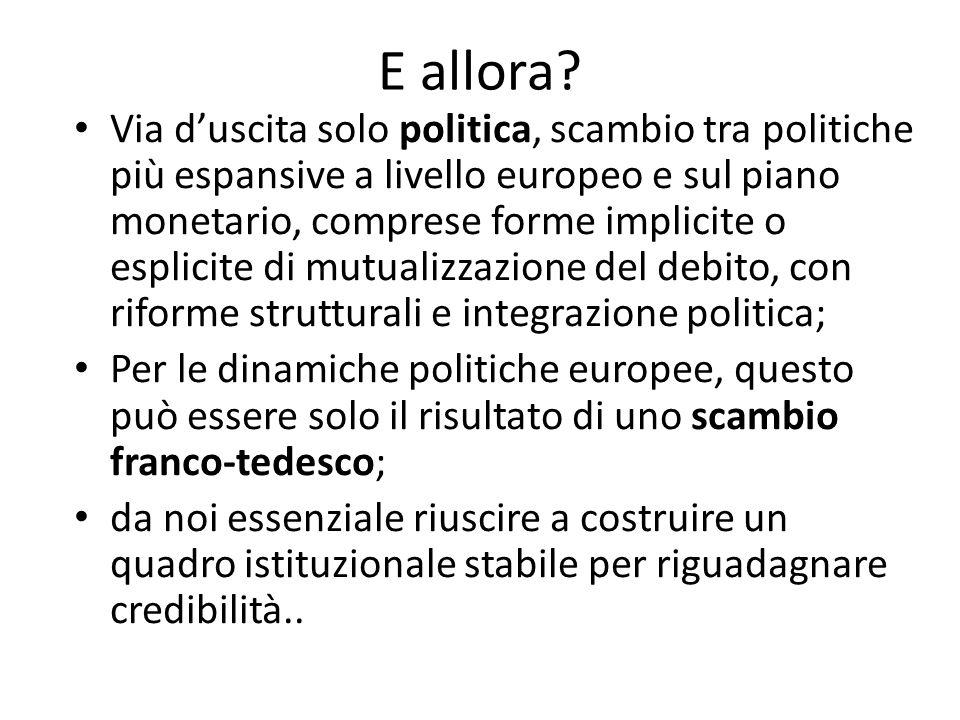 E allora.Altrimenti rischio patatrack, fuoriuscita dall'euro e consolidamento debito pubblico..