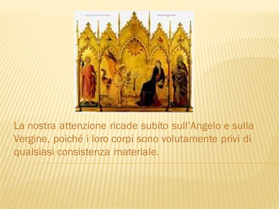  Analisi strutturale - Linee-forza - Equilibrio La Vergine, durante l'Annunciazione, si ritrae chiudendosi il manto.