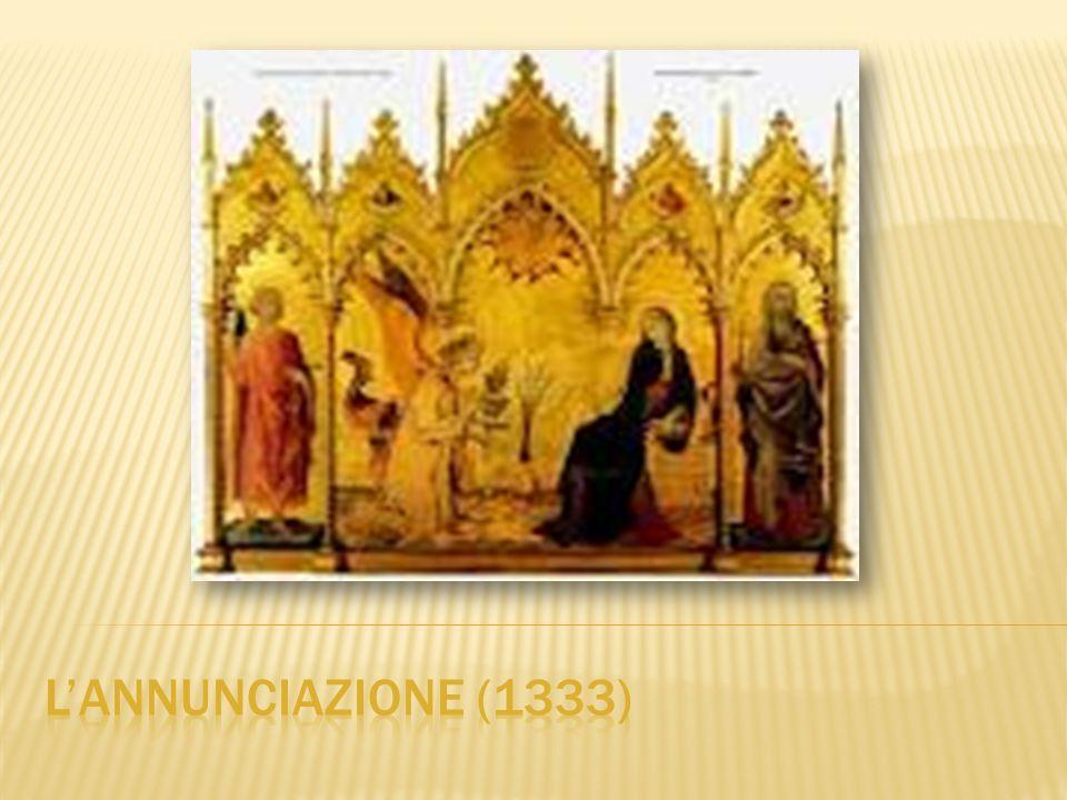 L'ultima opera del periodo senese di Simone Martini è la raffinatissima ed enigmatica Annunciazione tra i Santi Ansano e Massima, eseguita insieme al cognato Lippo Memmi nel 1333, per uno dei quattro altari della crociera del Duomo di Siena.
