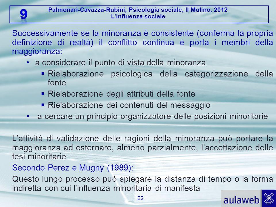 Palmonari-Cavazza-Rubini, Psicologia sociale, Il Mulino, 2012 L'influenza sociale 5.