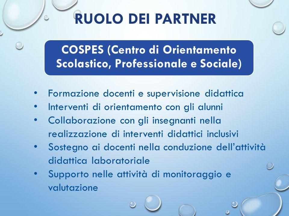 RUOLO DEI PARTNER Supporto organizzativo e didattico Conduzione dell'attività sportiva con gli alunni estesa anche alla partecipazione delle famiglie UISP (Unione Italiana Sport per Tutti)