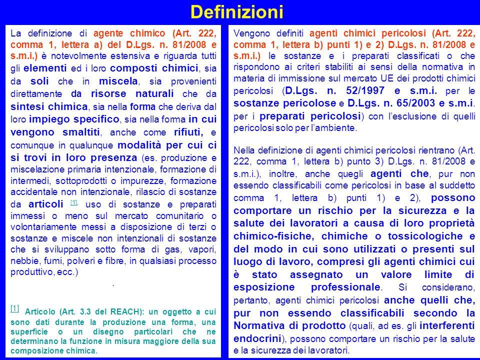 11 Definizioni Agenti cancerogeni e mutageni (Art.