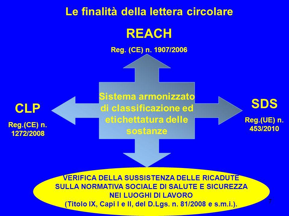 8 La struttura della lettera circolare IL QUADRO NORMATIVO DI RIFERIMENTO: DEFINIZIONI ED INDICAZIONI GENERALI.