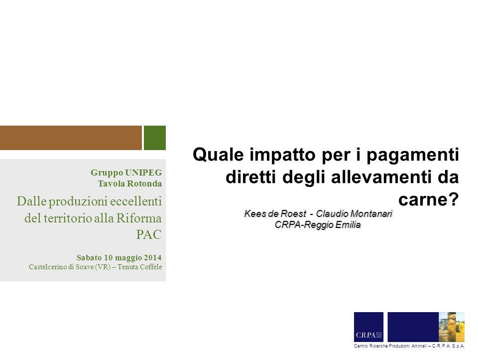 Impatto riforma PAC dopo 2014 Tavola Rotonda 10/05/2014 – Gruppo Uinpeg 2 Il declino della produzione di bovini in Italia Fonte: BDN