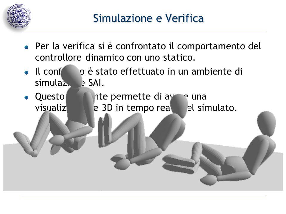 Svolgimento della simulazione Sono stati eseguiti due esperimenti: Il primo prevede il task di mantenere una posizione fissata per la mano (T) mentre il comportamento secondario è quello di oscillare il gomito in modo sinusoidale.