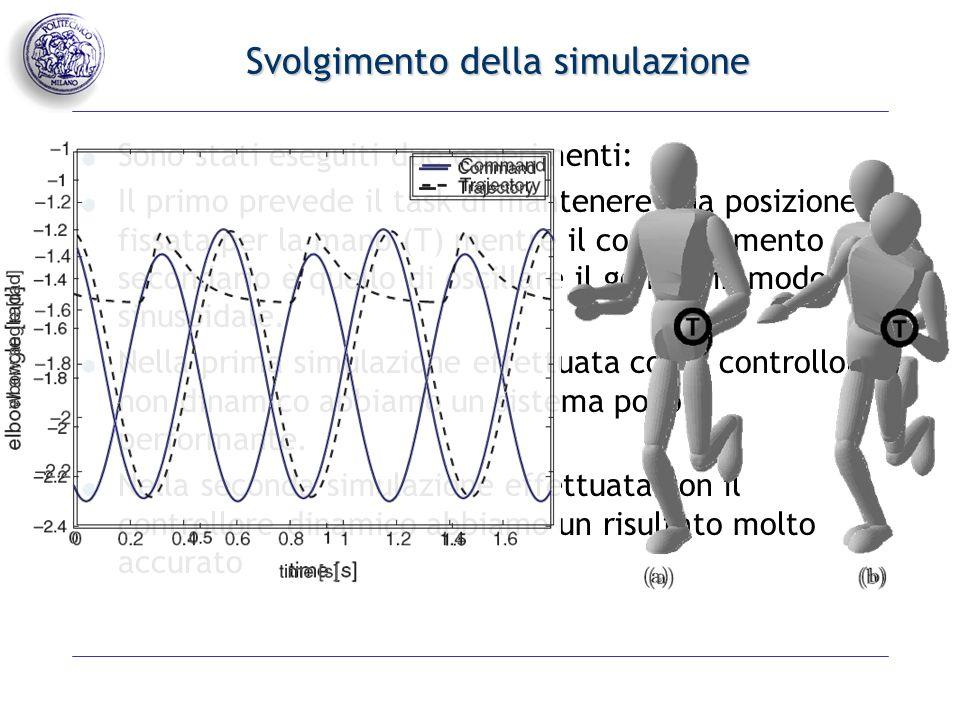 Svolgimento della simulazione Il secondo esperimento prevede come task primario lo stesso del primo esperimento.