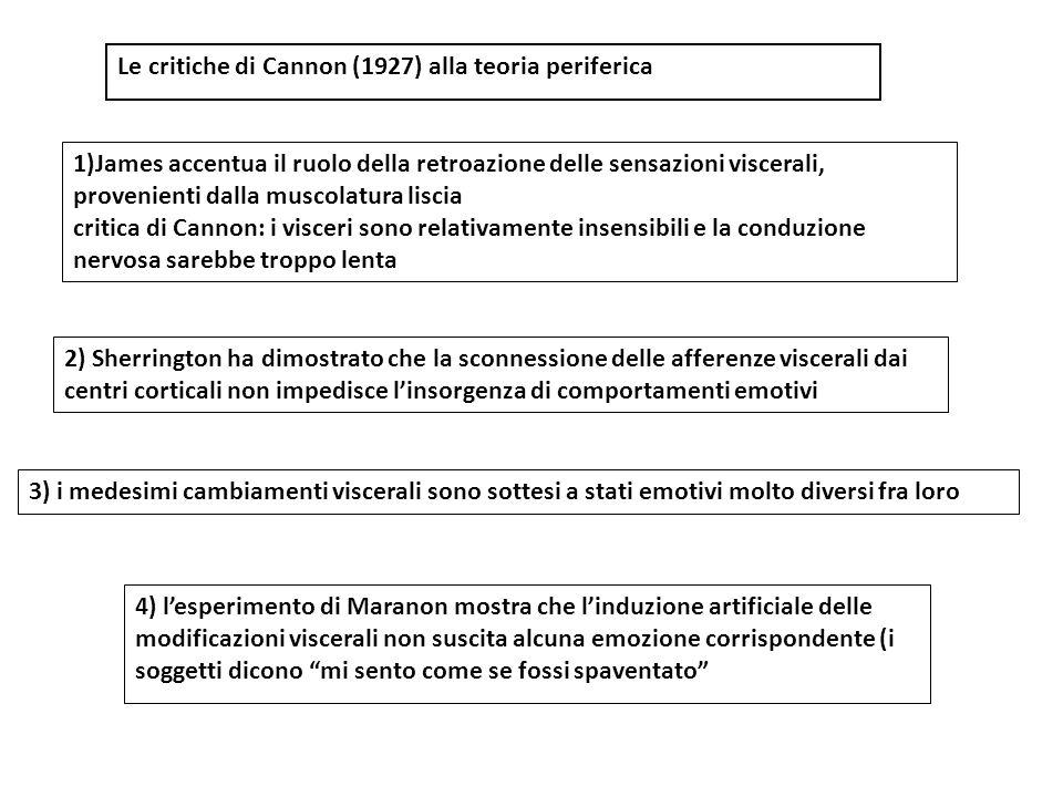 Motoneuroni somatici - conduzione veloce Motoneuroni autonomi - conduzione lenta Critica 1 di Cannon