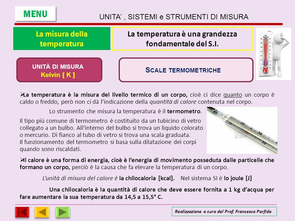 La scala Celsius APPROFONDIMENTO Temperatura dell'acqua bollente Temperatura del ghiaccio fondente Celsius 100 0 Intervallo suddiviso in 100 parti La scala Celsius prende nome dall astronomo, fisico e matematico svedese Anders Celsius (1701-1744).