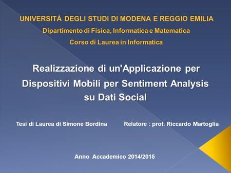 Dispositivi Mobili per Sentiment Analysis