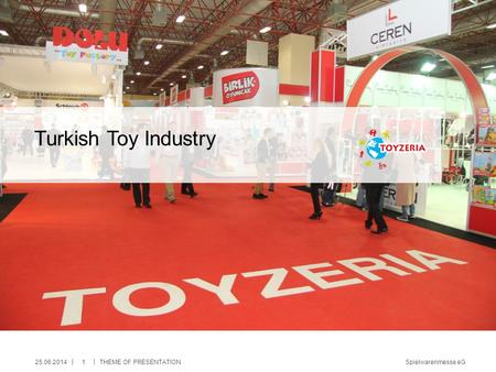 Spielwarenmesse eG || Turkish Toy Industry 25.06.2014THEME OF PRESENTATION1.