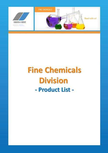 Fine Chemicals Division - Product List -.