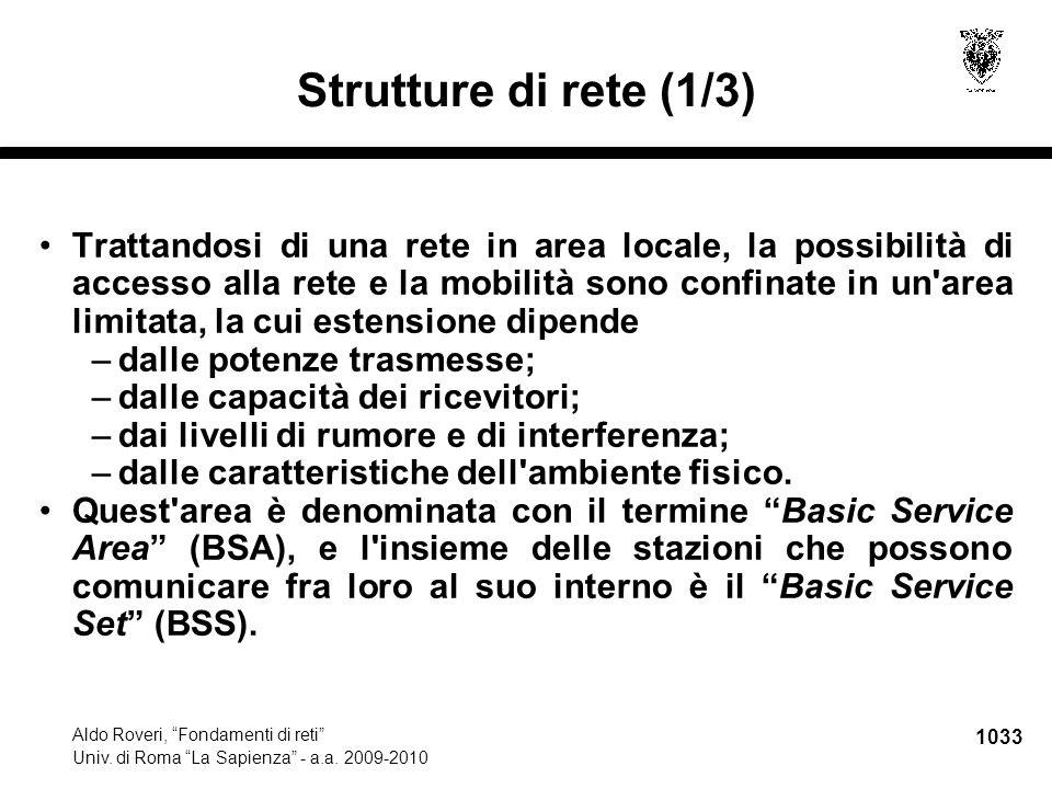1034 Aldo Roveri, Fondamenti di reti Univ.di Roma La Sapienza - a.a.