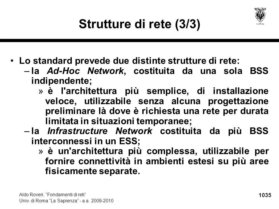 1036 Aldo Roveri, Fondamenti di reti Univ.di Roma La Sapienza - a.a.