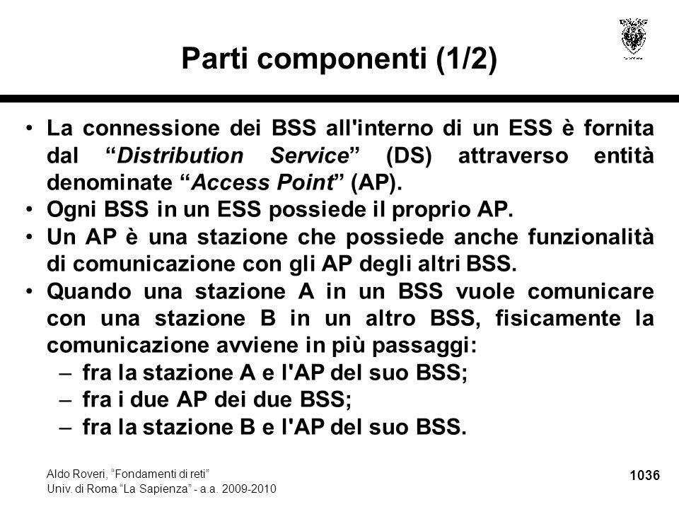 1037 Aldo Roveri, Fondamenti di reti Univ.di Roma La Sapienza - a.a.