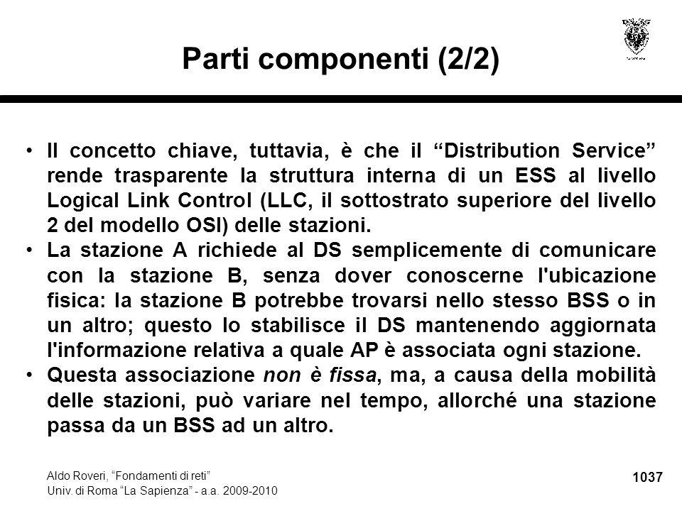1038 Aldo Roveri, Fondamenti di reti Univ.di Roma La Sapienza - a.a.