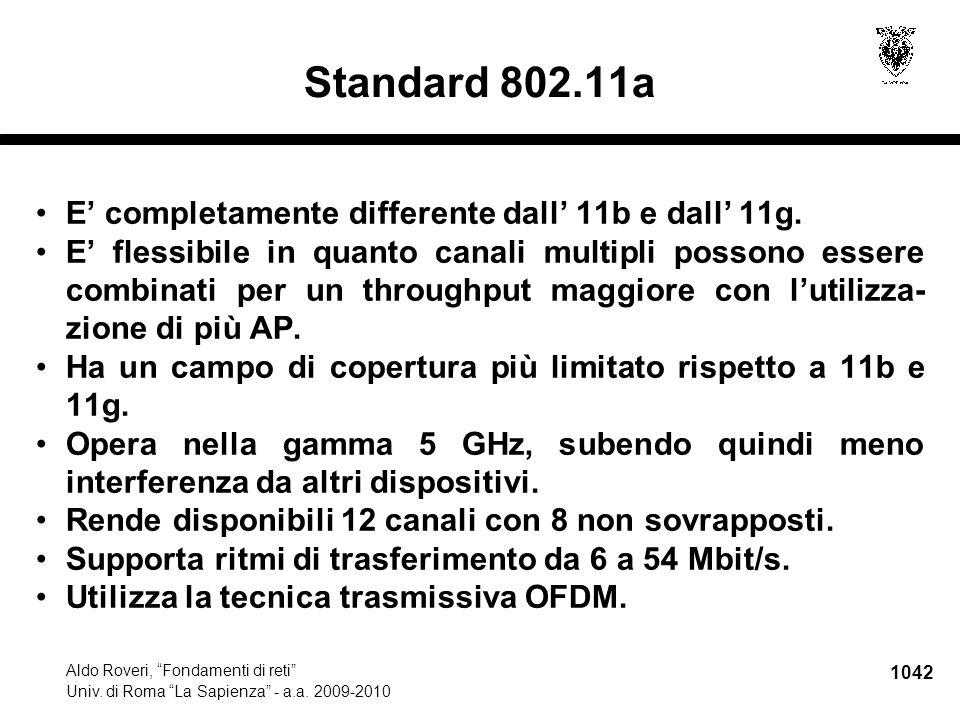 IV.2Internet Aldo Roveri, Fondamenti di reti Univ. di Roma La Sapienza - a.a. 2009-2010