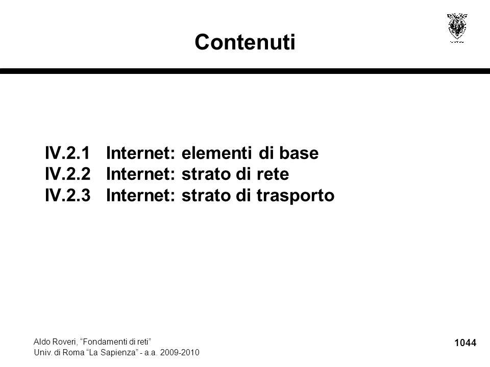 1045 Aldo Roveri, Fondamenti di reti Univ.di Roma La Sapienza - a.a.
