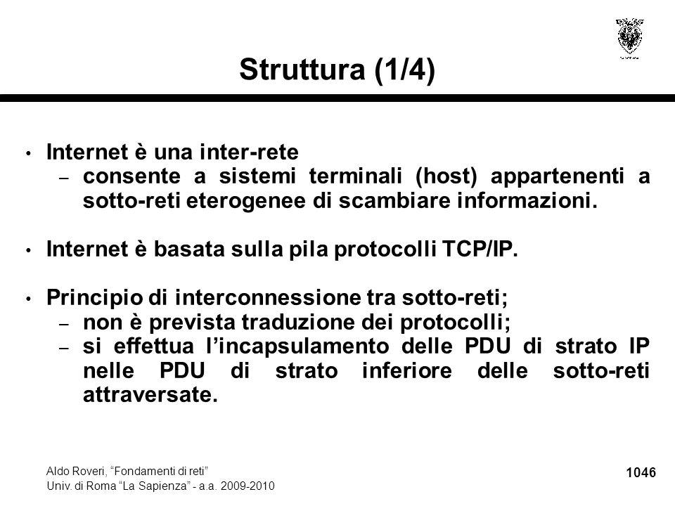 1047 Aldo Roveri, Fondamenti di reti Univ.di Roma La Sapienza - a.a.