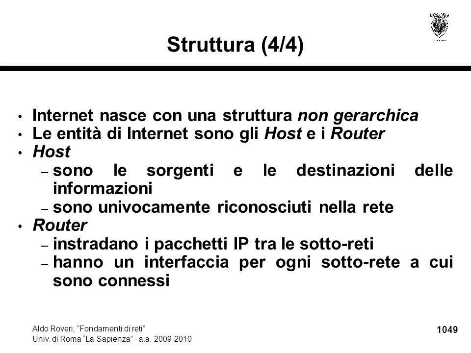 1050 Aldo Roveri, Fondamenti di reti Univ.di Roma La Sapienza - a.a.