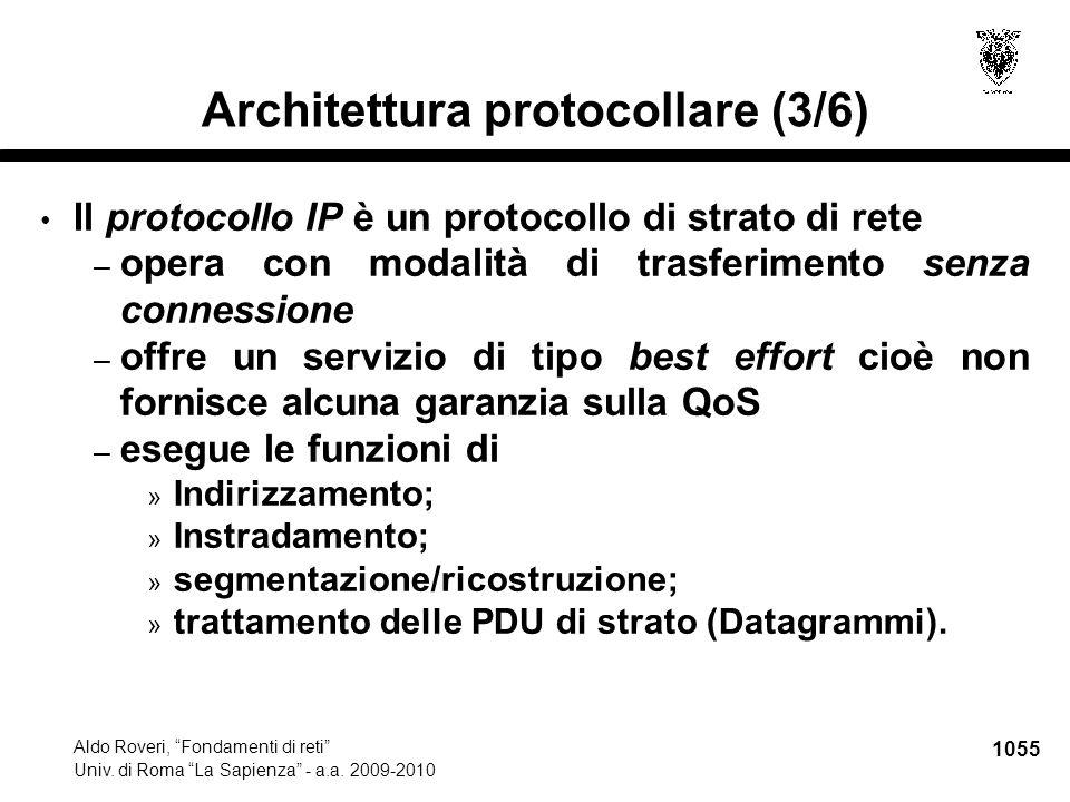 1056 Aldo Roveri, Fondamenti di reti Univ.di Roma La Sapienza - a.a.