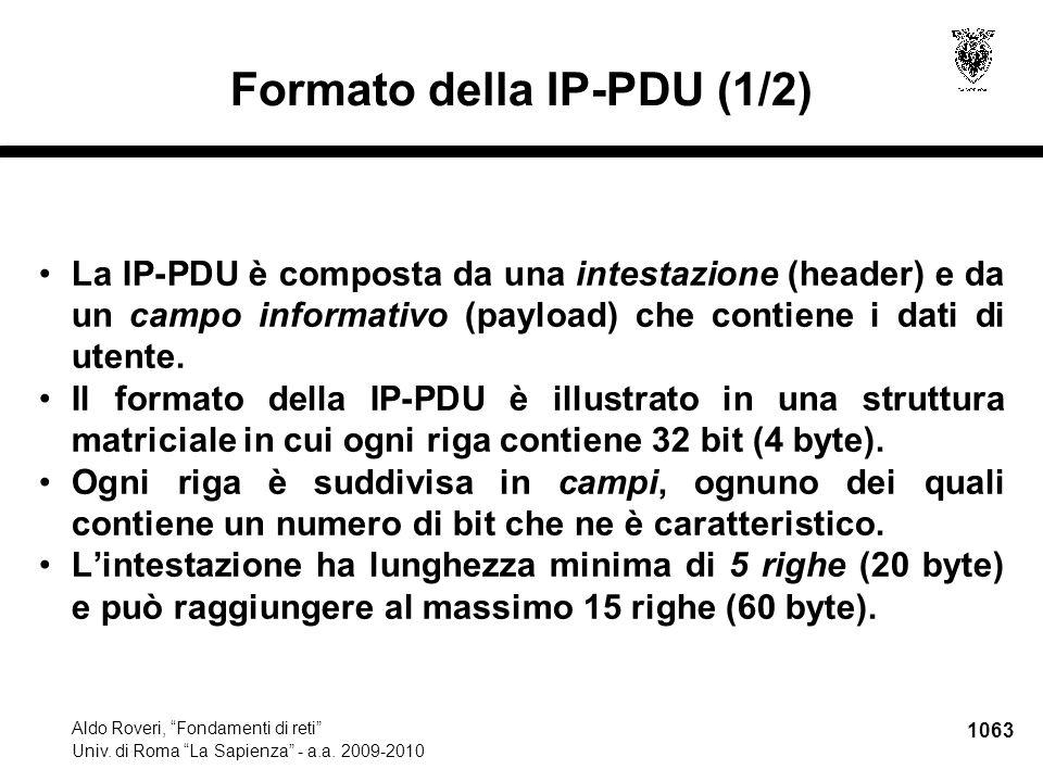 1064 Aldo Roveri, Fondamenti di reti Univ.di Roma La Sapienza - a.a.