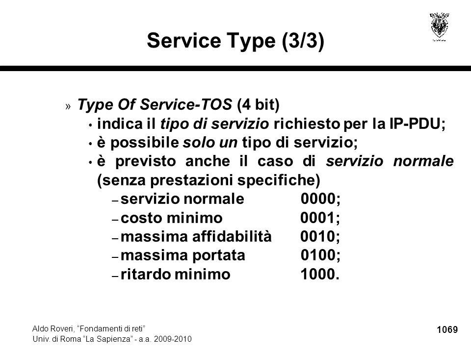 1070 Aldo Roveri, Fondamenti di reti Univ.di Roma La Sapienza - a.a.
