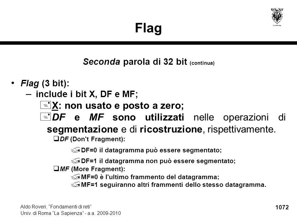 1073 Aldo Roveri, Fondamenti di reti Univ.di Roma La Sapienza - a.a.