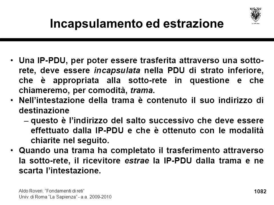 1083 Aldo Roveri, Fondamenti di reti Univ.di Roma La Sapienza - a.a.