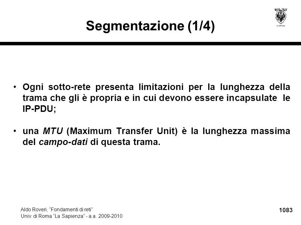 1084 Aldo Roveri, Fondamenti di reti Univ.di Roma La Sapienza - a.a.