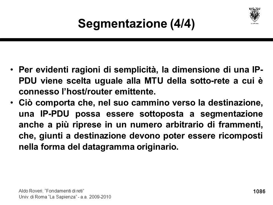 1087 Aldo Roveri, Fondamenti di reti Univ.di Roma La Sapienza - a.a.