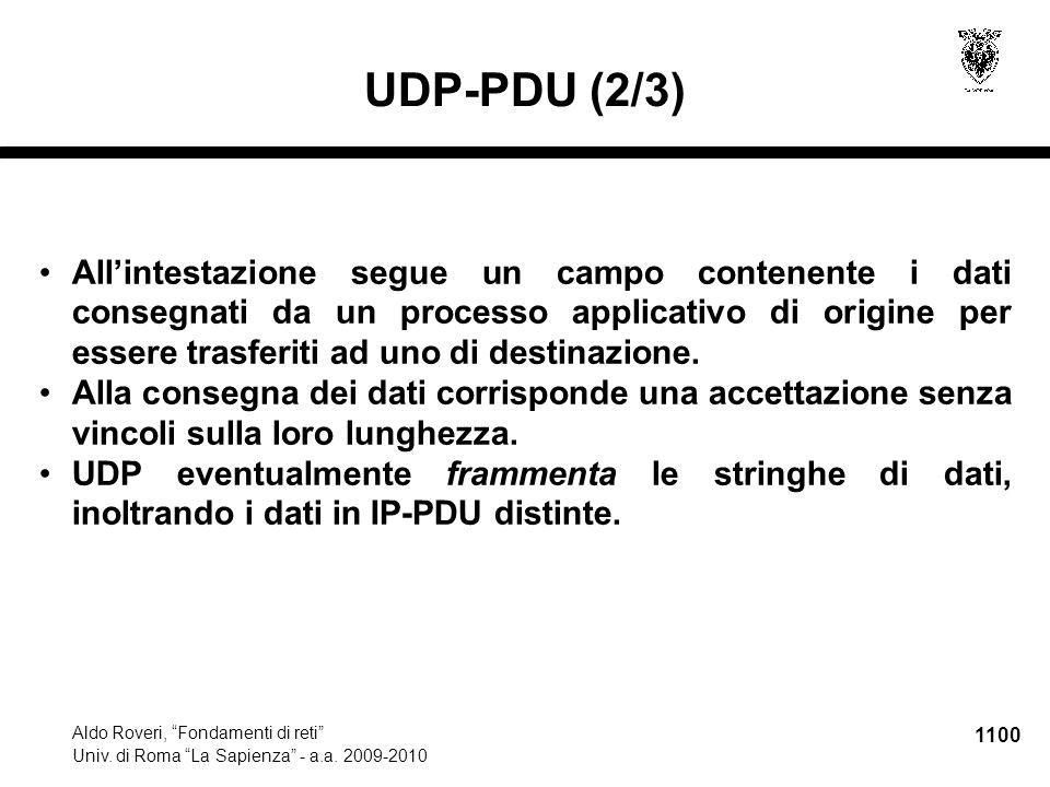 1101 Aldo Roveri, Fondamenti di reti Univ.di Roma La Sapienza - a.a.