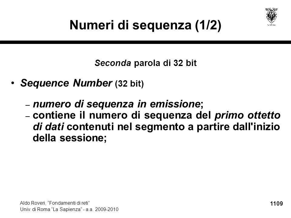 1110 Aldo Roveri, Fondamenti di reti Univ.di Roma La Sapienza - a.a.