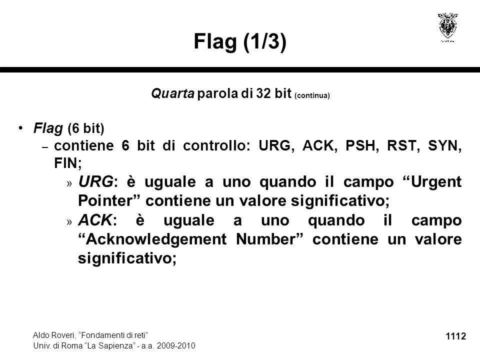 1113 Aldo Roveri, Fondamenti di reti Univ.di Roma La Sapienza - a.a.
