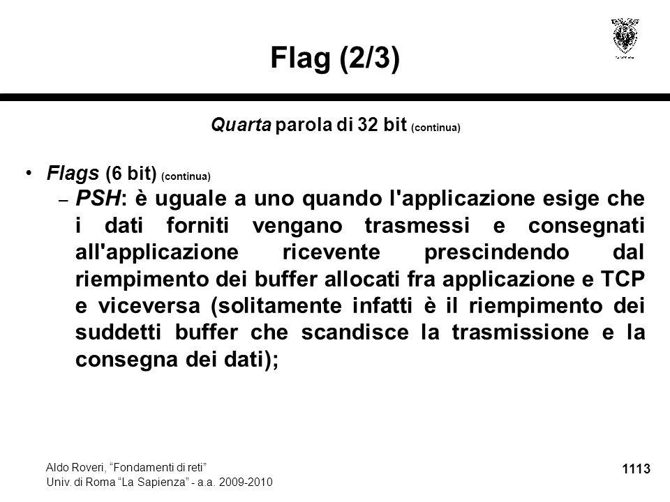 1114 Aldo Roveri, Fondamenti di reti Univ.di Roma La Sapienza - a.a.