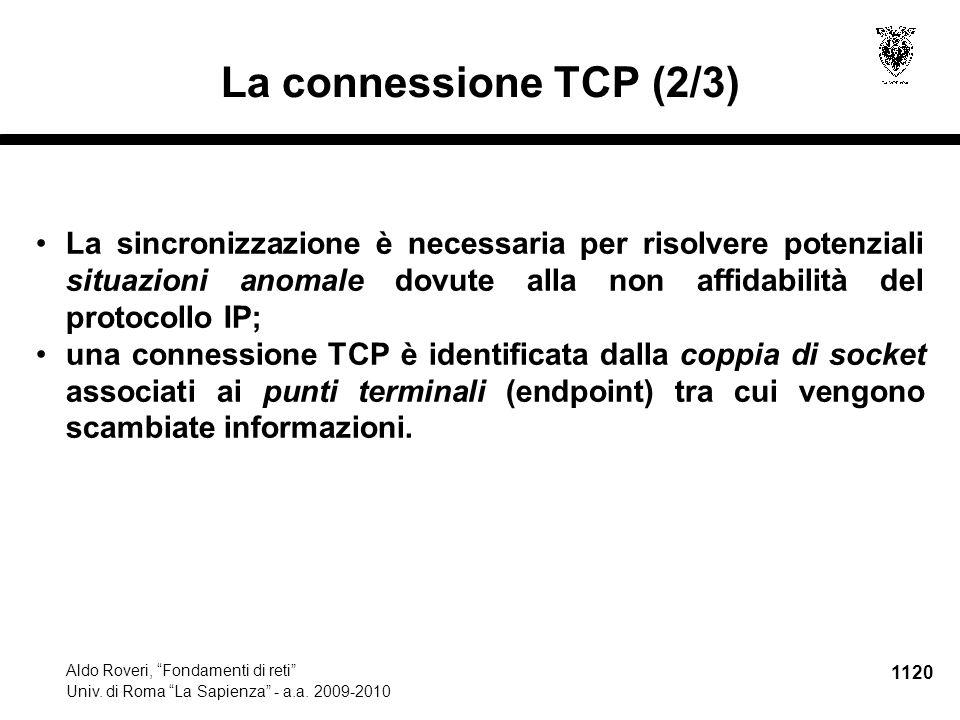1121 Aldo Roveri, Fondamenti di reti Univ.di Roma La Sapienza - a.a.
