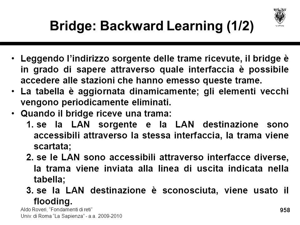 959 Aldo Roveri, Fondamenti di reti Univ.di Roma La Sapienza - a.a.