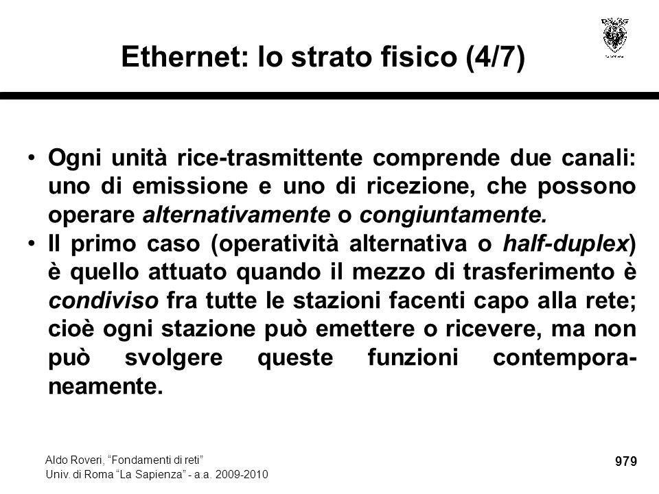 980 Aldo Roveri, Fondamenti di reti Univ.di Roma La Sapienza - a.a.